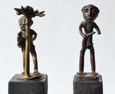 2 Figurative Gold Weights - AKAN - ASHANTI - Ghana