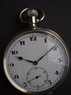 Silver men's pocket watch, RS brand, approx. 1910