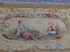 A Napoleon III Aubusson tapestry furniture upholstery - France - ca. 1860/1870