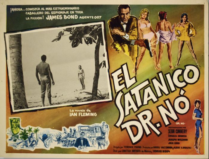 5 original Mexican James Bond lobby cards