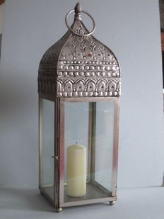 Old atmospheric Oriental candle lantern 0.55 m