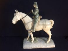 Centrepiece depicting Jeanne d'Arc on a horse - France, circa 1880
