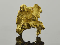 Natural Gold Nugget - 9.8 x 11.5 x 3.8 mm - 6.36 ct