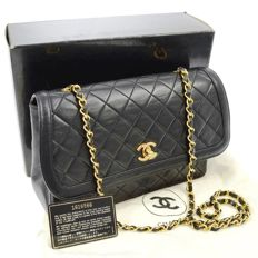 Chanel - Matelassé quilted shoulder bag with chain strap