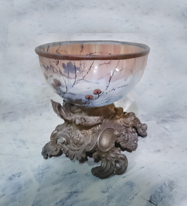 Bronze and opal table centrepiece, mid 19th century -Venice, Italy