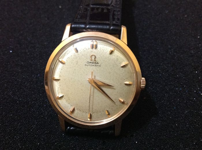 omega automatic cal 501 gold 18 kt men's watch year 1956