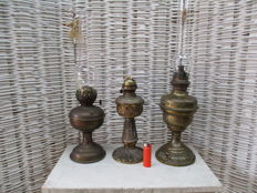 Lot of 3 oil lamps