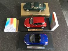 Motormax / Guiltoy / Welly - Scale 1/18 - Lot with 3 models: Chrysler GT Cruiser; Aston Martin DB7 & Ford Street Ka