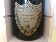 1955 Dom Perignon Vintage Champagne - 1 magnum (150cl) in wood box