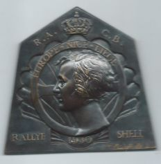 Shell Rally Badge from 1930 Europe - Nice - Liege