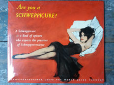 "Schweppes - Three ""Schweppicure"" - 13"" x 11.5"" tin sheet metal advertisements - 1950/1960ies"