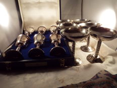 6 Vintage Silver Plated Champagne Saucer Coupes Antique Goblets Vintage Perry Greaves Silver Plated Goblets Quality Items