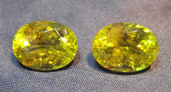 Tourmaline Yellow Pair - 13.69 ct