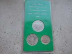 Portugal, Republic - 500, 750 and 100 Escudos 1983 'XVII European Expo in Art, Science and Culture' (3 coins) - silver