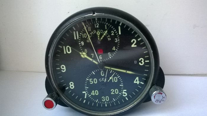 Aviation watches АЧС- 1 №85586 pilot for the fighter MiG (СССР/USSR). At the end of the 20th century.