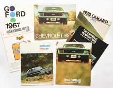 Collection Chevrolet and Ford USA brochures 1960s/1970s