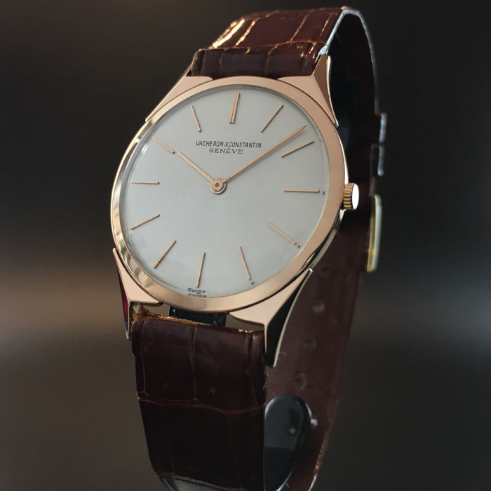 Rare Vacheron Constantin  Patrimony Rare fancy triangular and faceted lugs 18k Pink Gold , 1970's