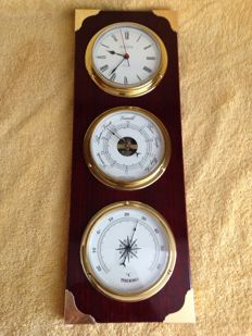 Weather Station: Barometer - Thermometer - Clock
