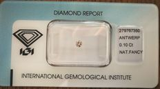 Natural Fancy Pink Diamond 0.10 ct  with IGI cert *** no minimum price***