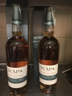 2 bottles - Scapa 16 years old Scotch Malt Whisky