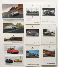 Collection Porsche brochures 1999-2010