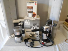 kitchen set / espresso machine AMA Milano /1984 + coffee grinder / S E B /France 1994