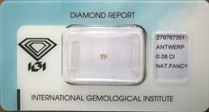 Natural Fancy Pink Diamond 0.08 ct  with IGI cert *** no minimum price***