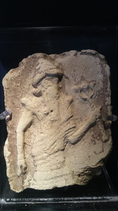 Old Babylonian Terracotta Plaque of a Sovereign - 9,50 cm x 7,00 cm