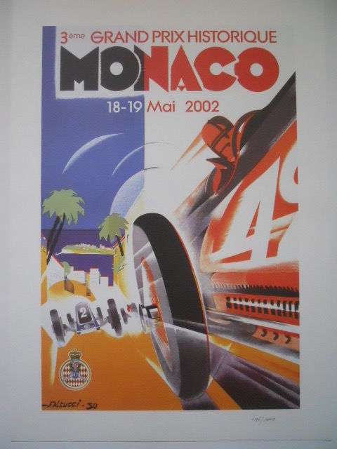 The 3rd poster grand historic prize of Monaco on 18-19 May 2002 illustrator Robert falcucci