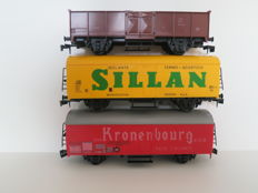 Spoor 0 Lima - 6701/6703/6723 - 3 various freight wagons