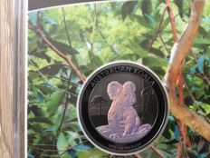 Australia - Dollar 2017 'Koala' with hologram and ruthenium plated - 1 oz silver