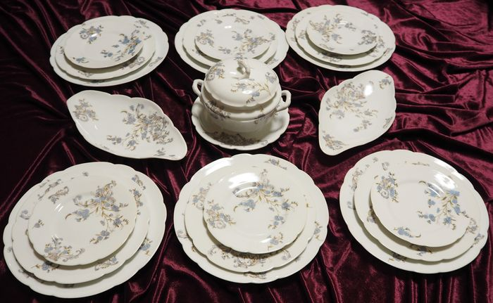Antique Russian Imperial  Brothers Kornilov  - Porcelain set of 21 pieces for 6 persons & Antique Russian Imperial