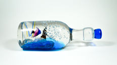 Coline Gianni (Murano) - Aquarium bottle sculpture
