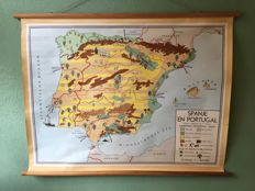 School map Spain and Portugal