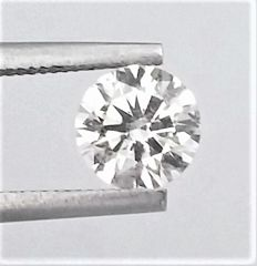 Round Brilliant Cut  - 0.93 carat  - F color  - SI1 clarity  - Natural Diamond - 3 x EX -  None - With AIG Certificate + Laser Inscription On Girdle