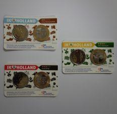 Netherlands - Holland Coincard 2015, 2016 and 2017 (3 different ones)
