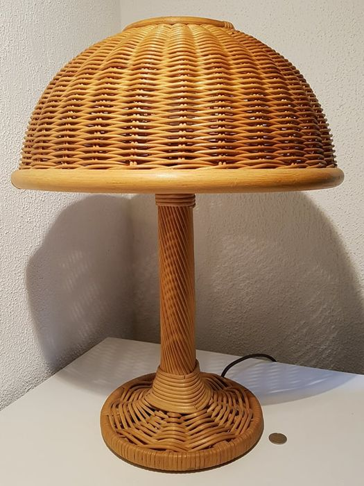 Unknown designer vintage rattan table lamp 1970s catawiki unknown designer vintage rattan table lamp 1970s aloadofball