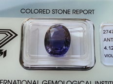 Iolite - Violet/Blue - 4.12 ct - No reserve