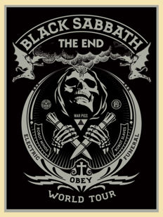 Shepard Fairey (OBEY) - Black Sabbath (silver)