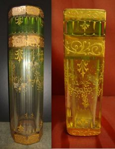 Two parcel-gilt vases, France, circa 1900