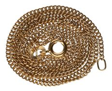 18 kt – Yellow gold curb link necklace – Length: 51.1