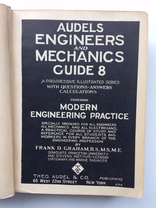 frank graham audels engineers and mechanics guide 8 volumes rh auction catawiki com Mechanical Engineering Clip Art Mechanical Engineering Colleges
