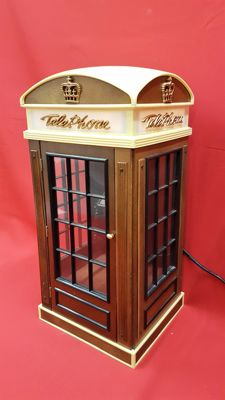 Telephone radio FM/AM in the shape of a phone booth - 1970s