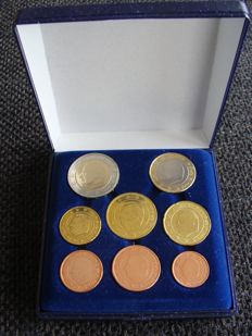 Belgium - Year pack 1 cent through 2 euro 1999 (8 pieces) in case