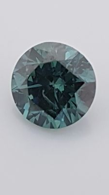 1.02 ct - Round Brilliant - Blue - VS2
