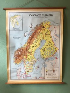 School map Scandinavia and Finland