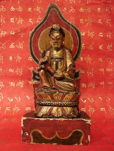 Guanyin with child on an Altar –-China Wangjia Zhongshanmiao – ca. 1891 (Qing Dynasty) 清