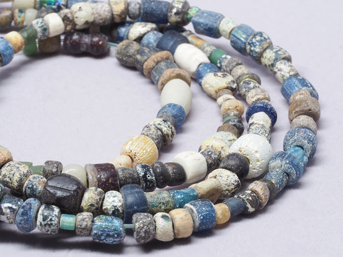 Ancient Nila glass beads strand.