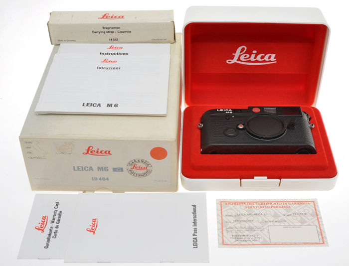 """Leica, very rare Leica M6 black """"Demo Unit For Polyphoto S.p.A."""" a Limited edition camera for the Italian importer."""