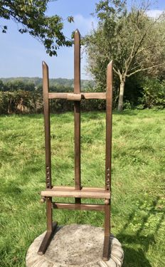 Vintage small children's oak painter's easel, adjustable, Netherlands, ca.1920